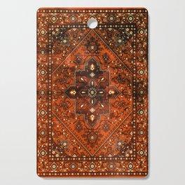 N151 - Orange Oriental Vintage Traditional Moroccan Style Artwork Cutting Board