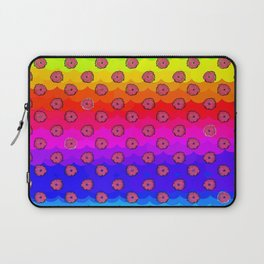 Rainbow and pink flowers Laptop Sleeve