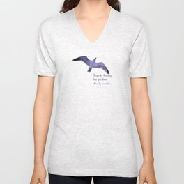 Seagull - quote Unisex V-Neck