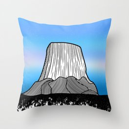 Devils Tower Throw Pillow