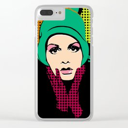 """""""Twiggy Pop Color"""" Clear iPhone Case"""
