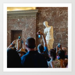 Aphrodite (Pictures of people taking pictures of priceless works of art with shitty cameras I) Art Print