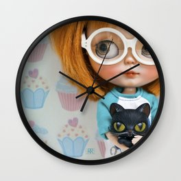 Erregiro Blythe Custom Doll Carmencita & Sócrates Wall Clock