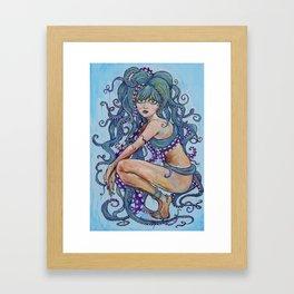 The Octopus Woman Framed Art Print