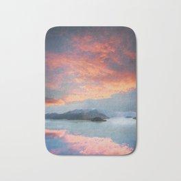 Sunset Over Lake Como Italy Bath Mat