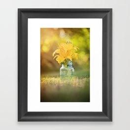 Joyful Yellow Framed Art Print
