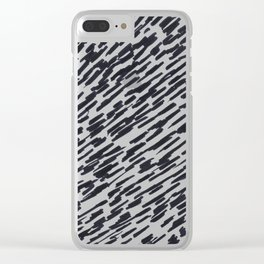 Abstract slashed stripes Clear iPhone Case