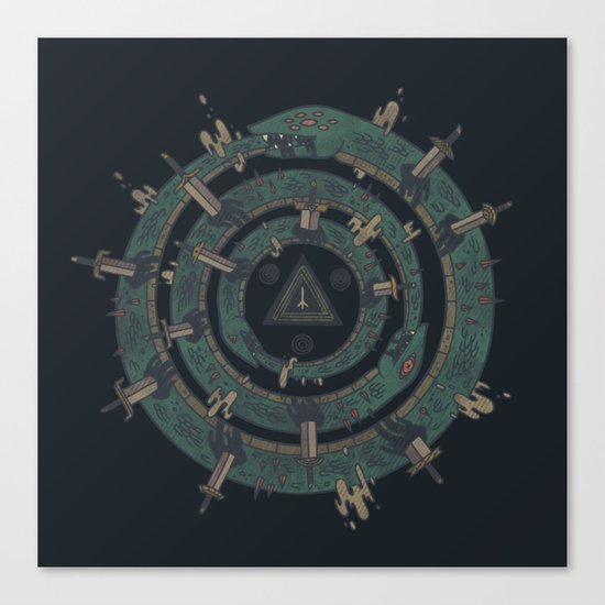 The Cycle Canvas Print