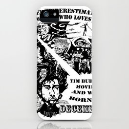 Never Underestimate, a Woman, who Loves, Tim Burton Movies, and was Born in December iPhone Case