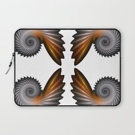 Fractal Art - Silver Spiral 4 Laptop Sleeve