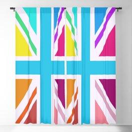 Square Based Union Jack/Flag Design Multicoloured Blackout Curtain