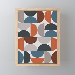 Mid Century Modern Geometric 25 Framed Mini Art Print