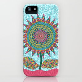 Fabby Flower-Eden colors iPhone Case