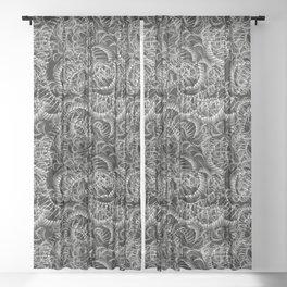 Cobra Snake Abstract Sheer Curtain