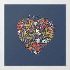 Folky Love Canvas Print