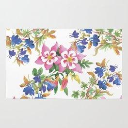 Painting lili flowers Rug