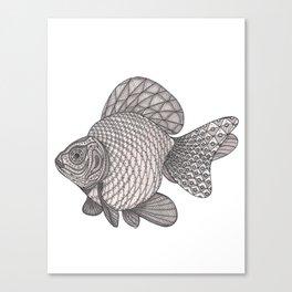 Tangled Ryukin Fish Canvas Print