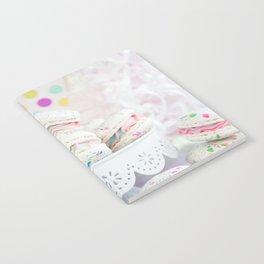 Splatter Macarons Party Notebook
