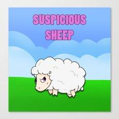 Suspicious Sheep Canvas Print