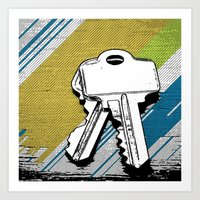 black keys Art Prints featuring Keys by magnez2