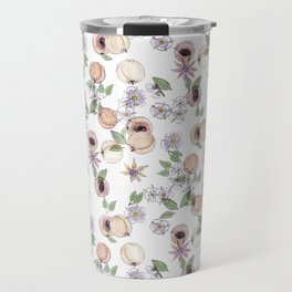 Watercolor pattern with apricots and flowers Travel Mug