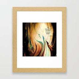 Tint Blot - Flaming Stalagmite Framed Art Print
