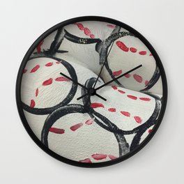 Baseball Season - Body Paint Wall Clock