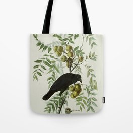 Vintage Crow Illustration Tote Bag