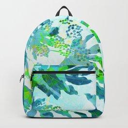 Tropical adventure - Blue Backpack