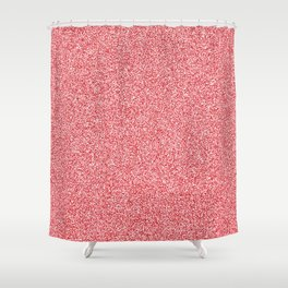 Melange - White and Fire Engine Red Shower Curtain