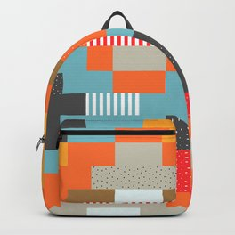 Colorful rectangles with dots Backpack