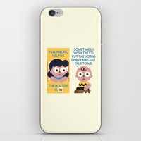 psychology iPhone & iPod Skins featuring Muted Affection by David Olenick