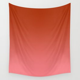 Red to Pastel Red Horizontal Linear Gradient Wall Tapestry
