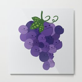 Grumpy Grapes // Alternatively Grapes of Wrath Metal Print