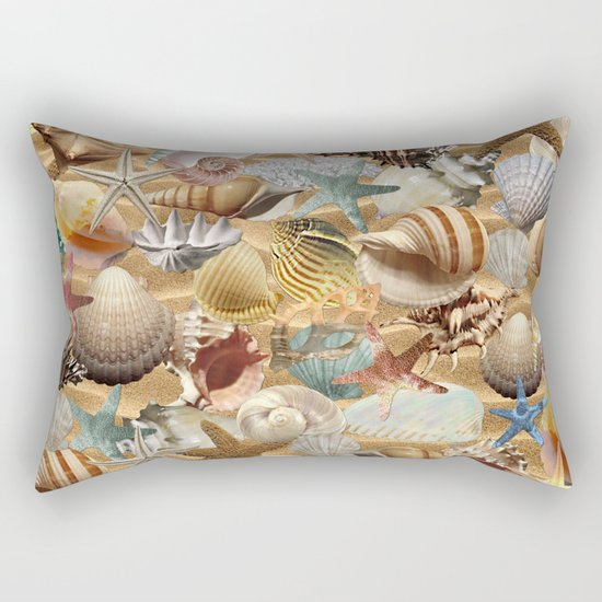 Sea Shell Mania Rectangular Pillow