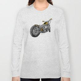 """Rootbeer Bobber"" Custom Motorcycle Long Sleeve T-shirt"
