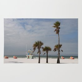 Clearwater Beach In Wintertime Rug