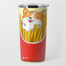 French Corgi Fries Travel Mug