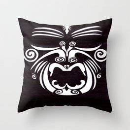 Tribal Mask Throw Pillow