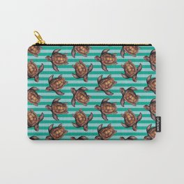 turtles in stripes Carry-All Pouch