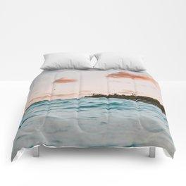 summer sunset iv Comforters