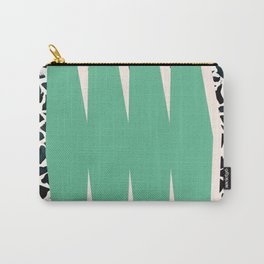 Green, Abstract print poster Carry-All Pouch