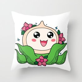 Happy Little Tentacles! Throw Pillow