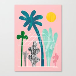 Collage Greenhouse Canvas Print
