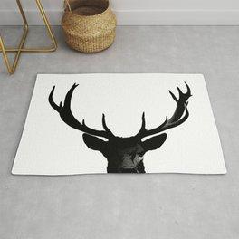 Black Deer Silhouette A273 Rug