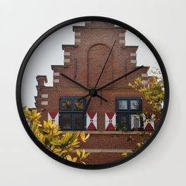 Dutch Details in Delaware  Wall Clock