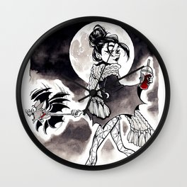Casual Vampire Wall Clock