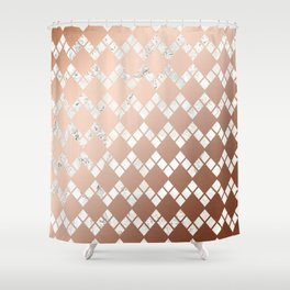 Copper & Marble 03 Shower Curtain