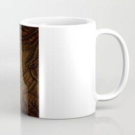 rustic western country leather texture crystal chandelier Coffee Mug