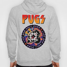 Kiss Pugs Lick and Roll Over Hoody